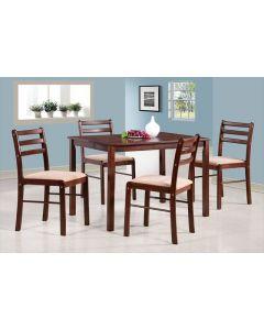 TABLE + 4 CHAISES BOIS MASSIF