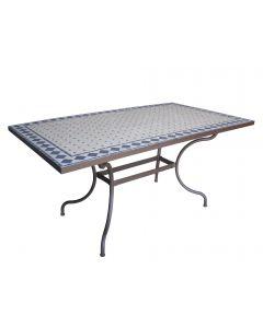 TABLE RECTANGLE MOSAIQUE