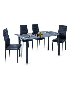 TABLE + 4 CHAISES NOIR AVATAR AVATAR