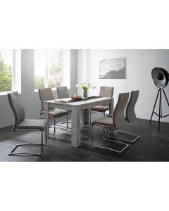 TABLE SEJOUR BETON/NOIR