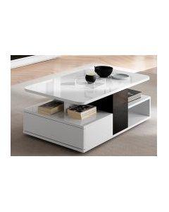TABLE BASSE BLANC / GRIS BELLARIVA 2099901526878