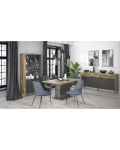TABLE EXTENSIBLE PIEDS LUGECHENE BETON